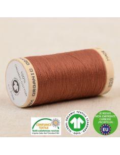 Bobine de 275m de fil à coudre 100% Coton bio Fauve