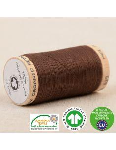 Bobine de 275m de fil à coudre 100% Coton bio Chocolat