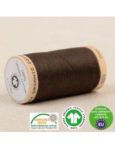 Bobine de 275m de fil à coudre 100% Coton bio Marron glacé