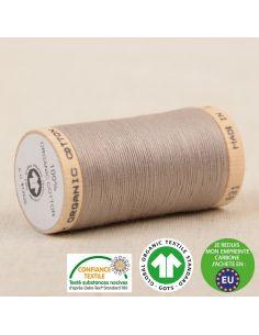 Bobine de 275m de fil à coudre 100% Coton bio Taupe