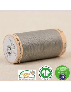 Bobine de 275m de fil à coudre 100% Coton bio Gris cendre