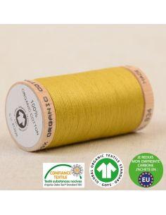 Bobine de 275m de fil à coudre 100% Coton bio Vert tilleul