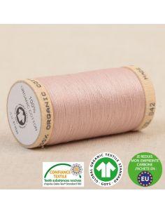 Bobine de 275m de fil à coudre 100% Coton bio Rose poudre