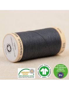 Bobine de 275m de fil à coudre 100% Coton bio Gris bleu