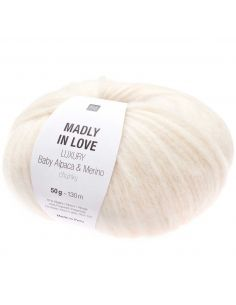 Pelote Madly in love Luxury baby alpaca & merino chunky crème