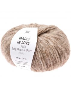 Pelote Madly in love Luxury baby alpaca & merino chunky beige