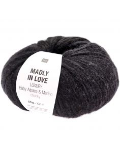 Pelote Madly in love Luxury baby alpaca & merino chunky noir