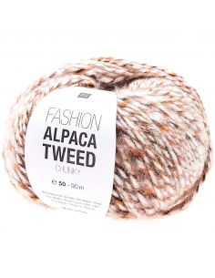 Pelote Fashion alpaca tweed chunky écru