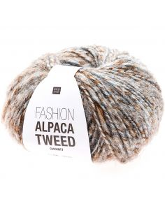 Pelote Fashion alpaca tweed chunky bleu clair