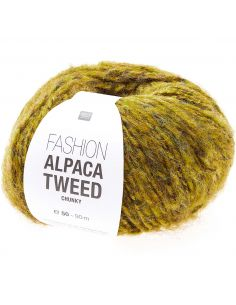 Pelote Fashion alpaca tweed chunky moutarde