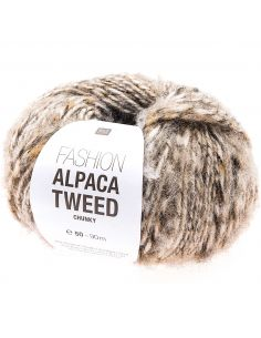 Pelote Fashion alpaca tweed chunky beige
