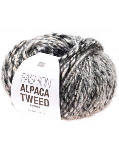 Pelote Fashion alpaca tweed chunky gris