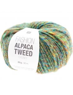 Pelote Fashion alpaca tweed chunky vert