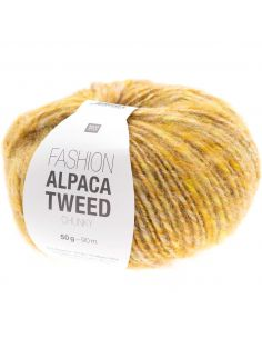 Pelote Fashion alpaca tweed chunky jaune