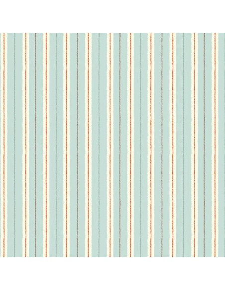 Tissu en coton Chicken and Egg - Stripes Blue
