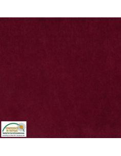 Tissu en Avalana velours stretch bordeaux