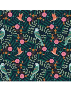 Tissu en coton Our planet Perroquets