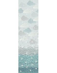 Tissu en coton Elements border