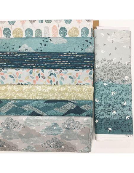 Tissu en coton Elements ciel bleu