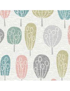Tissu en coton Elements arbres