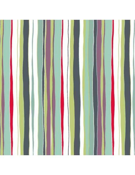 Tissu en coton Meadow - Stripes foncé