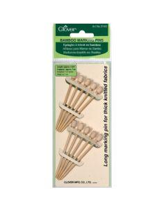 Épingle à tricot en bambou