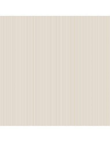 Tissu en coton Pinstripe Beige