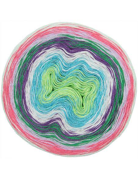 Pelote Creative cotton dégradé lucky 8 pink-vert