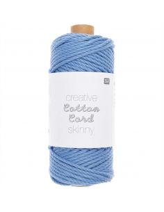 Pelote Creative cotton cord skinny bleu