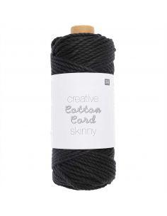Pelote Creative cotton cord skinny noir