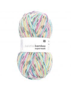 Pelote Rico socks superba bamboo 4 fils multicolor