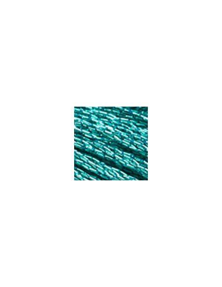 Fil à broder mouliné effet lumière turquoise E3849
