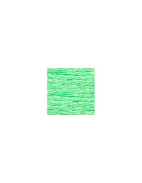 Fil à broder mouliné effet lumière vert fluo E990