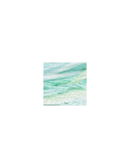 Fil à broder mouliné color variations vert d'eau 4140
