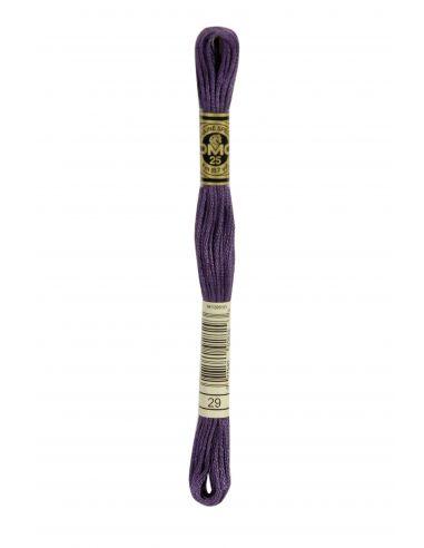 Fil à broder mouliné spécial 25 violet 29