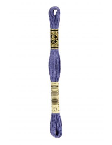 Fil à broder mouliné spécial 25 violet 31