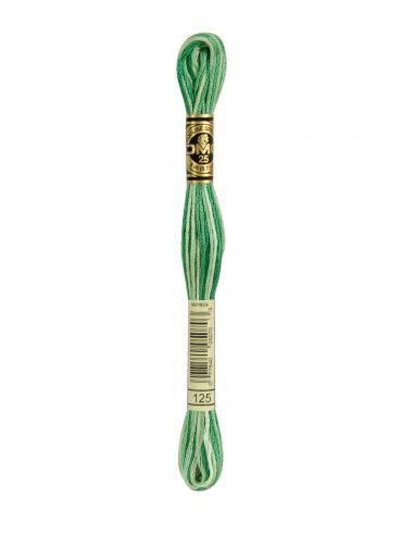 Fil à broder mouliné spécial 25 vert 125