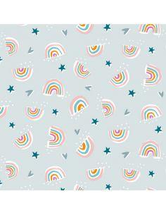 Tissu en coton Rainbow Friends arc-en-ciel