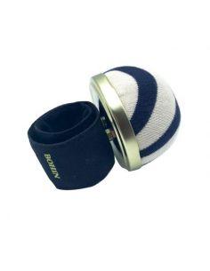 Bracelet porte épingles ajustable marinière