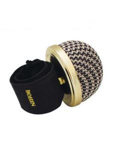 Bracelet porte épingles ajustable pied de poule
