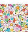 Tissu en coton Silk road Fleurs