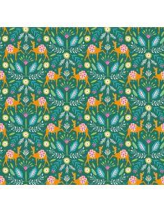 Tissu en coton Silk road Dromadaires