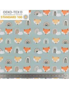Tissu Pul Oeko-Tex renards