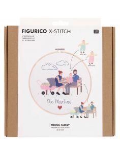 Kit de broderie Figurico - Jeune famille
