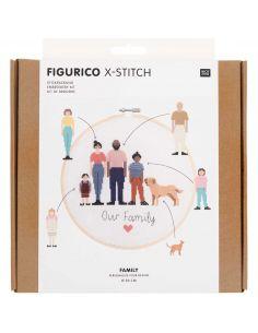 Kit de broderie Figurico - Tourtereaux