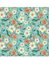 Tissu en coton Hedgerow Flowers in blue