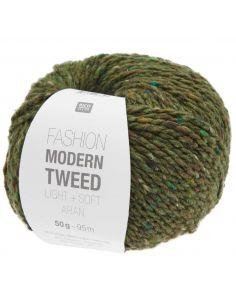Pelote Fashion modern tweed aran olive