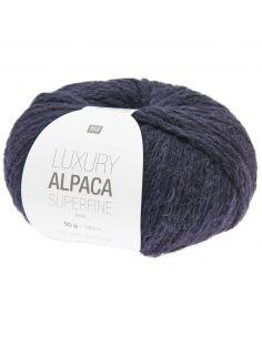 Pelote Luxury alpaca superfine aran bleu marine