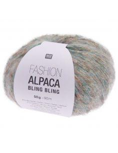 Pelote Fashion alpaca bling bling menthe