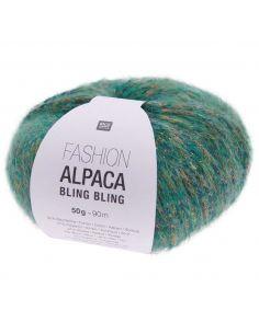 Pelote Fashion alpaca bling bling vert
